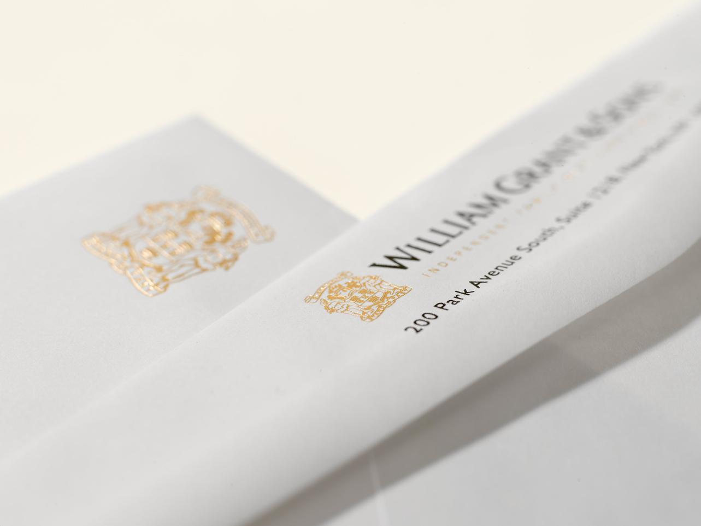 Foil stamp envelope