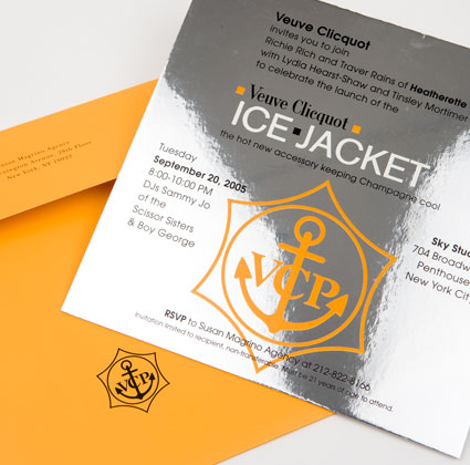 Veuve Clicquot Ice Jacket Invitation